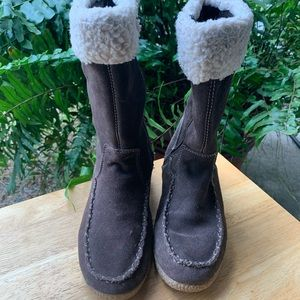 Thom McAn Kids Girls Size 4 Youth Brown Boots